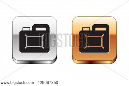 Black Canister For Motor Machine Oil Icon Isolated On White Background. Oil Gallon. Oil Change Servi