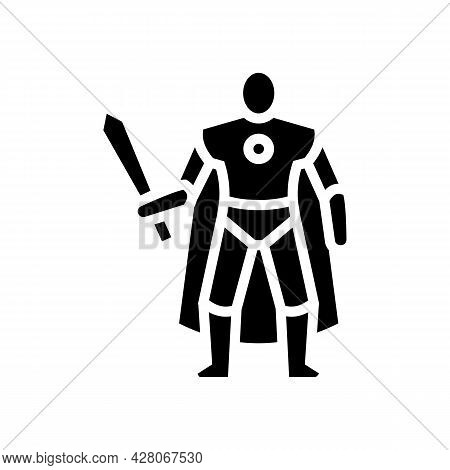 Action Figures Toys Glyph Icon Vector. Action Figures Toys Sign. Isolated Contour Symbol Black Illus