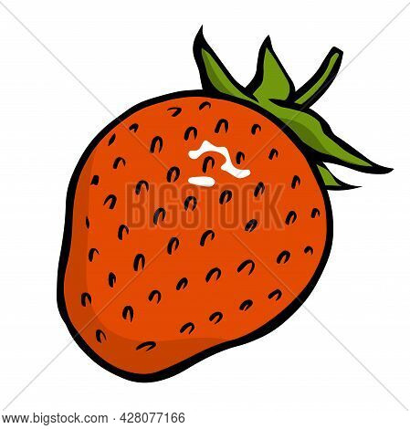 Illustration Appetizing Strawberry On A White Background