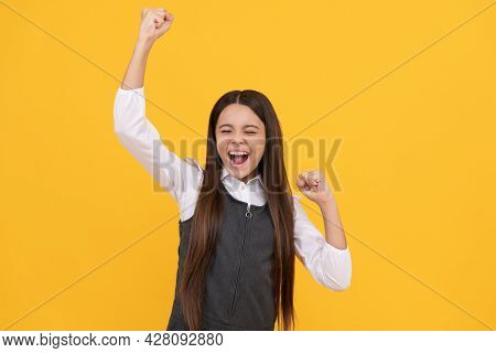 Got Success. Successful Girl Celebrate Success. School Education