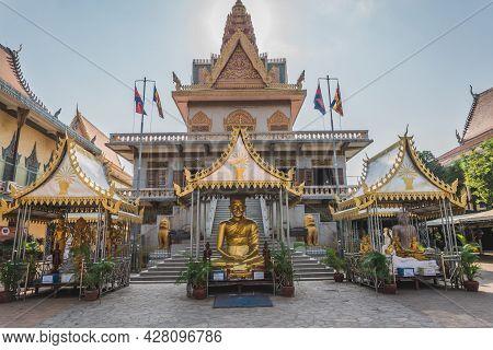Temple In Phnom Penh Cambodia. Phnom Penh, Cambodia - February 22, 2020