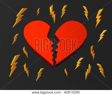 Broken heart and lightnings