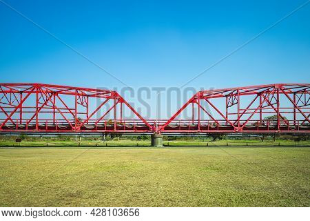 Heritage Steel Bridge At Xiluo Township In Yunlin, Taiwan
