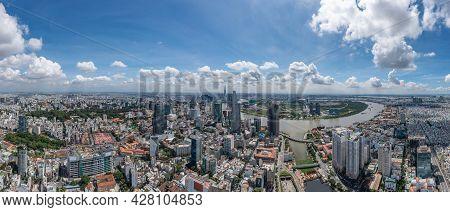 Panoramic Photo Of Saigon, Big And Famous City In Vietnam
