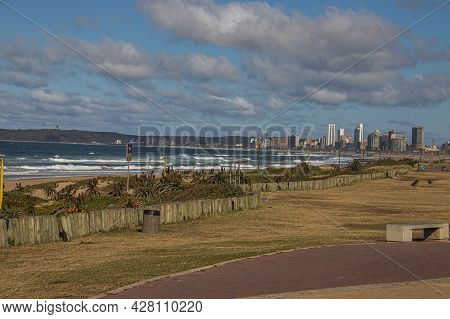 Scienic View Across Durban Bay With Bluff In Background