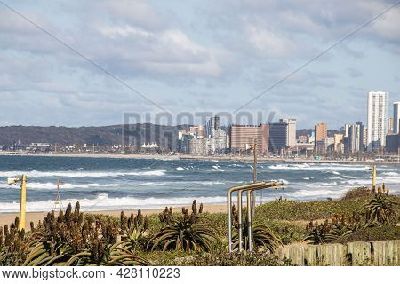 Scienic View Of Durban Bay With Bluff In Background