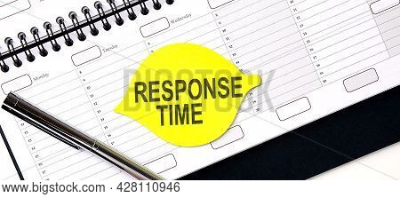 Text Response Time On Yellow Sticker On Planning
