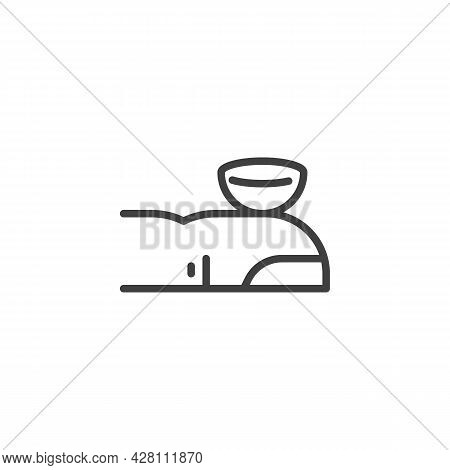 Contact Lens On A Finger Line Icon. Linear Style Sign For Mobile Concept And Web Design. Use Eye Len