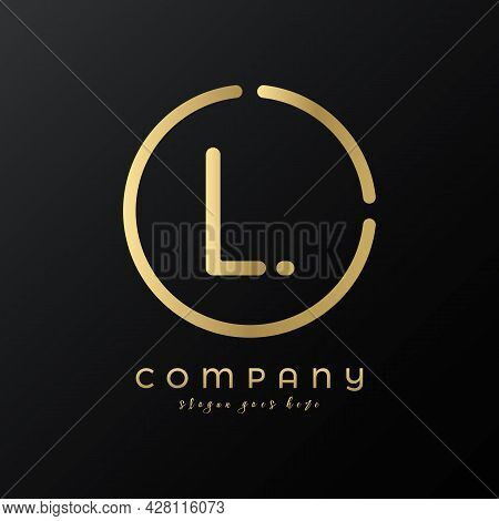 Technology Letter L Logo Design Vector Template. Abstract Minimalist Typography Letter L Logo Design