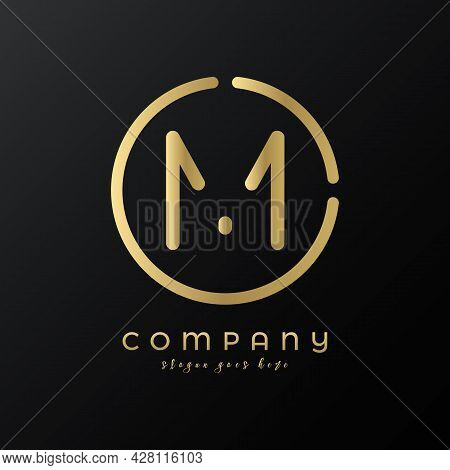 Technology Letter M Logo Design Vector Template. Abstract Minimalist Typography Letter M Logo Design