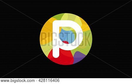 Colorful Letter P Logo Design Vector Template. Abstract Technology Letter P Logo Design
