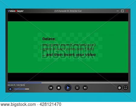 Video Player Window. Program Interface. Overlay. Empty Layout. Simulate The Transparency Of The View