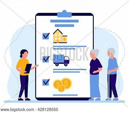 Property Insurance People Senior Retirement, Inheritance Planning, Appraisal Estate Or Tax. Financia