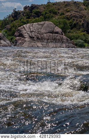 Fast Flowing Cold Water Mountain Stream, Flowing Stormy Stream Stream, Nature Outdoors, Fresh Stream