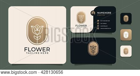 Feminine Luxury Modern Spa Flower Logo Vector Design Inspiration. Logo Can Be Used For Icon, Brand,