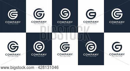 Modern Elegant Initial Letter G Logo Vector Concept For Branding. Logo Can Be Used For Icon, Brand,