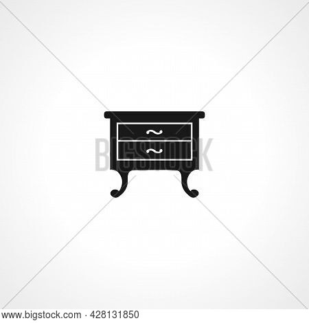 Cupboard Icon. Cupboard Simple Vector Icon. Cupboard Isolated Icon.