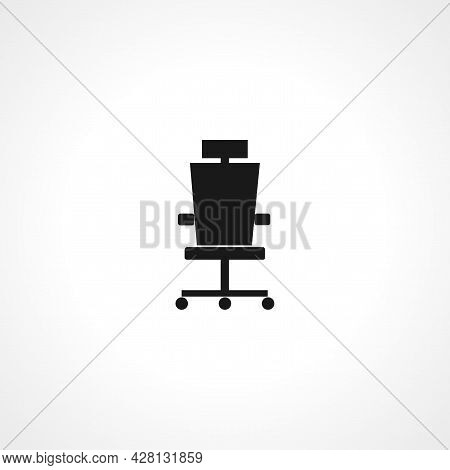 Office Chair Icon. Office Chair Simple Vector Icon. Office Chair Isolated Icon.