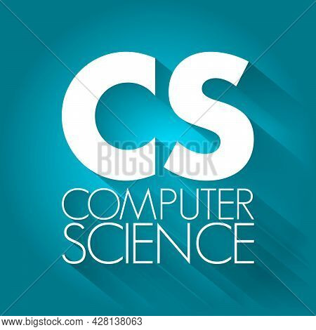 Cs - Computer Science Acronym, Technology Concept Background