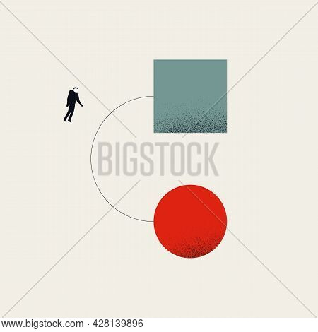 Business Digital And Process Transformation Vector Concept. Symbol Of Evolution, Development, Succes