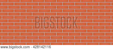 Red Brick Wall Texture Abstract Background Vector Illustration