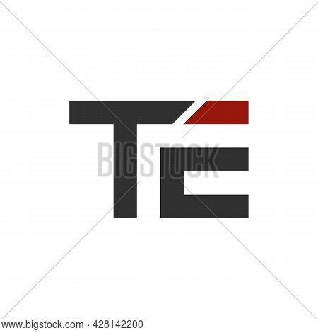 Illustration Vector Graphic Of Modern Letter Te Logo