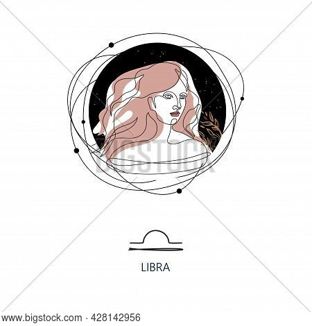 Zodiac Sign Libra. The Symbol Of The Astrological Horoscope.