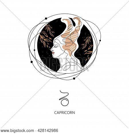 Capricorn Zodiac Sign. The Symbol Of The Astrological Horoscope.