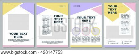 Business Introduction Brochure Template. Flyer, Booklet, Leaflet Print, Cover Design With Copy Space