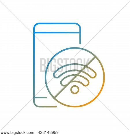 Internet Connection Issues Gradient Linear Vector Icon. Slow Wifi Sign. Unstable Connection Issue. S