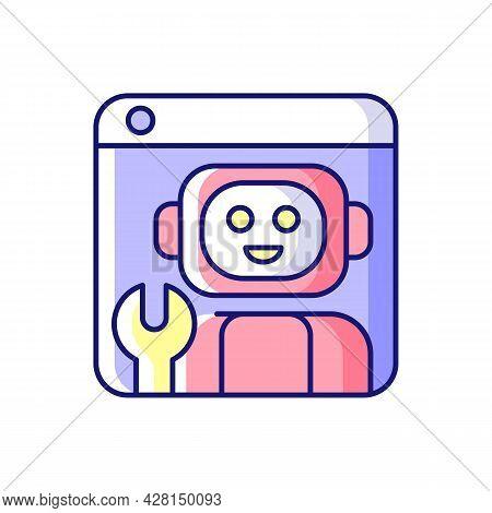 Robotics Platforms Rgb Color Icon. Provide Solution For Building Robotic Applications. Realistic Sim