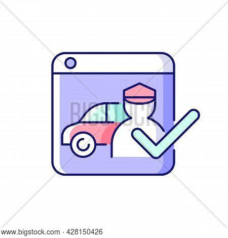 Ride-hailing Platforms Rgb Color Icon. Ridesharing Company. Hiring Personal Driver Online. Connectin