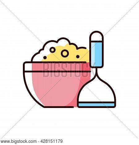 Mash Potato Rgb Color Icon. Vegan Gravy Recipe. Thanksgiving Dish. Nutrient Meal. Cooking Instructio