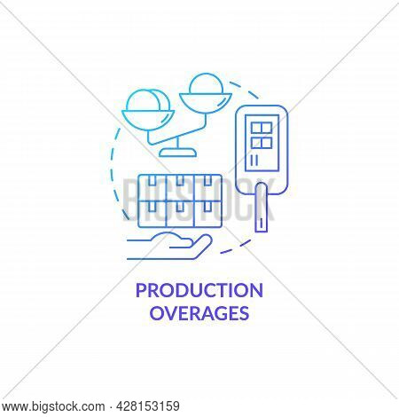 Production Overages And Usage Limits Concept Icon. Humanitarian Aid And Manufacturing Collaboration.