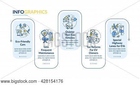 Ev Maintenence Vector Infographic Template. Green Car Lanes Presentation Outline Design Elements. Da