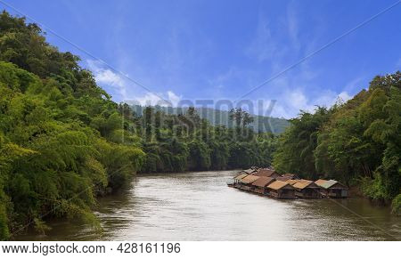 View Of Forest And River In West Of Thailand