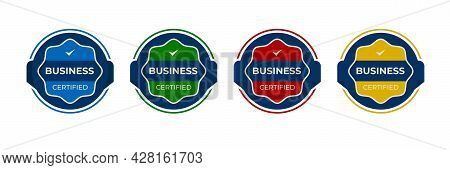 Certified Badge Logo Design For Company Training Badge. Certificates To Determine Based On Criteria.
