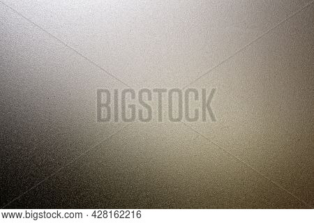 Details Of Frosted Glass Texture Background With Light From Back.