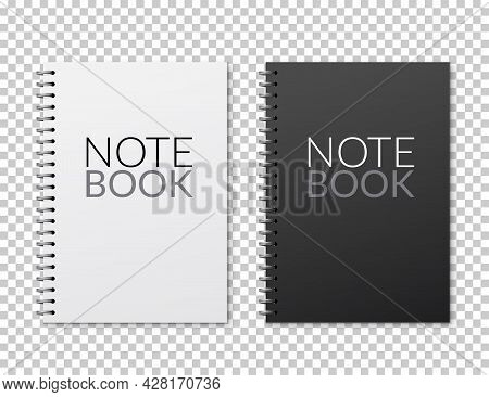 Realistic Vector Notebook Design. Diary Blank Office Document. Note Book Sheet