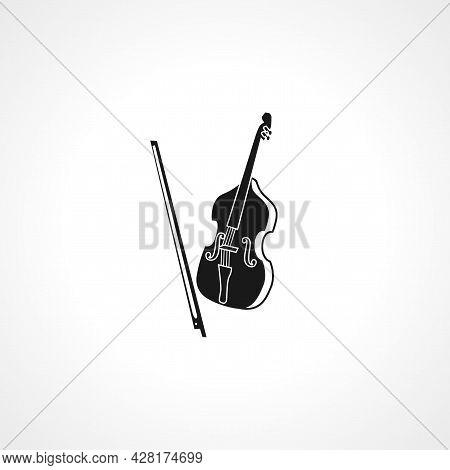 Cello Icon. Cello Simple Vector Icon. Cello Isolated Icon.