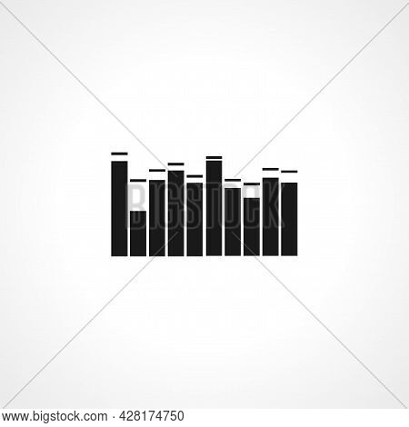 Equalizer Icon. Equalizer Simple Vector Icon. Equalizer Isolated Icon.