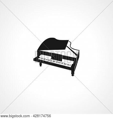Grand Piano Icon. Grand Piano Simple Vector Icon. Grand Piano Isolated Icon.