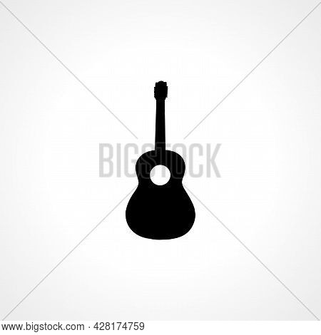Guitar Icon. Guitar Simple Vector Icon. Guitar Isolated Icon.