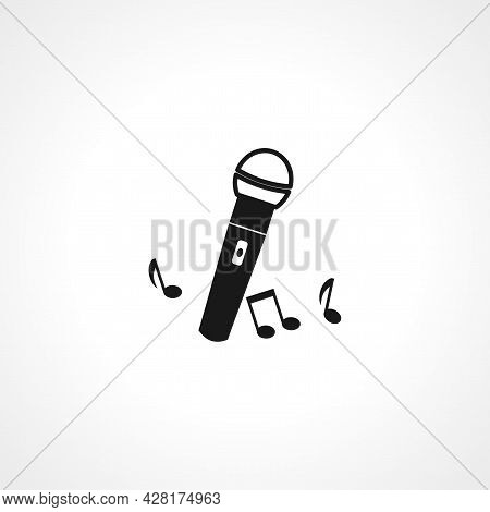 Microphone Icon. Microphone Simple Vector Icon. Microphone Isolated Icon.