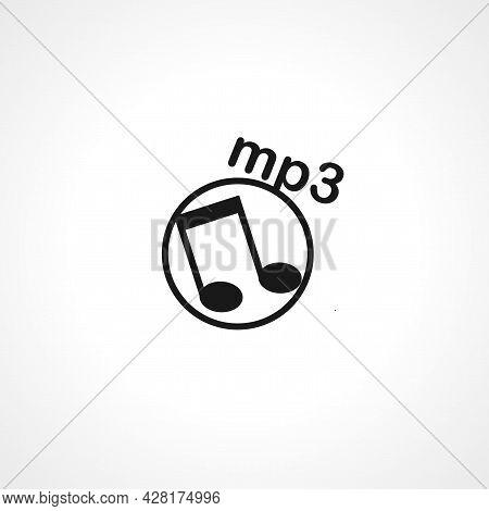 Mp3 Icon. Mp3 Simple Vector Icon. Mp3 Isolated Icon.