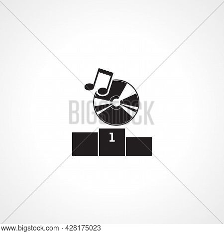 Music Hit Icon. Best Music Simple Vector Icon. Hit Music Isolated Icon.