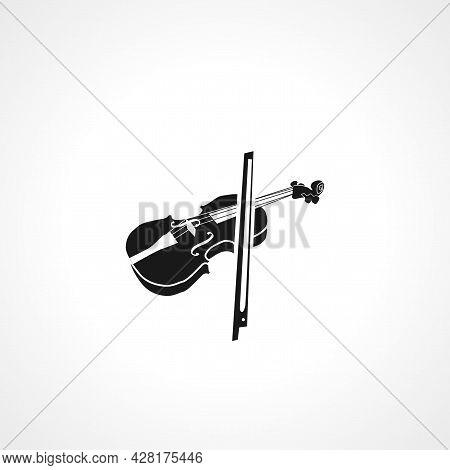 Violin Icon. Violin Simple Vector Icon. Violin Isolated Icon.
