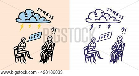 Counseling Psychology Or Psychotherapy. Psychological Or Talking Therapy. Helping A Person And Overc