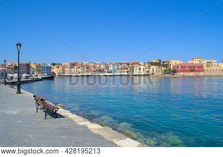 View Of The Old Town In Chania, Crete In Greece