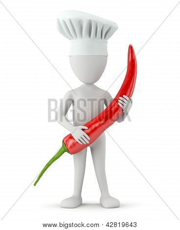 3D Small People Cook - Chili.